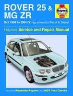 Haynes Workshop Repair Manual Rover 25 MG ZT 99 - 04